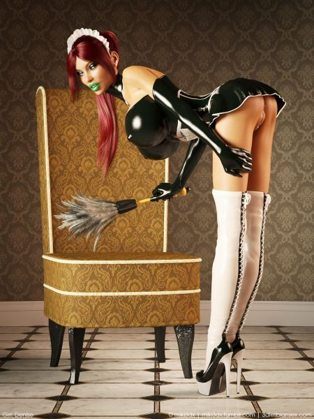 Comics art Denise Latex Maid